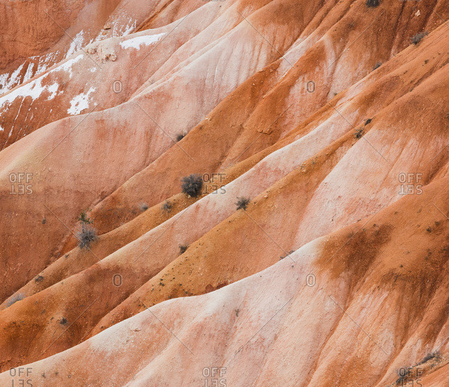 Detail of rock wall in Bryce Canyon National Park