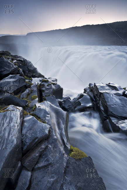 Dettifoss, a waterfall in Vatnajkull National Park in Northeast Iceland