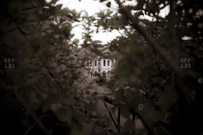 Gloomy hidden villa