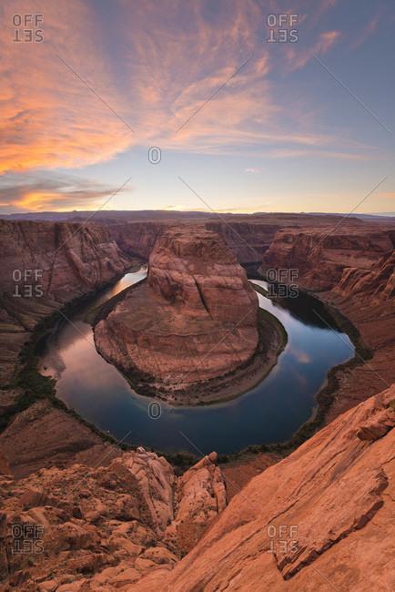 Horseshoe Bend  canyon and Colorado River, Arizona, USA