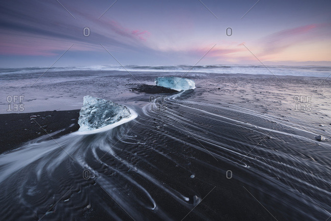 , a large glacial lake in southeast Iceland, on the edge of Vatnajkull National Park