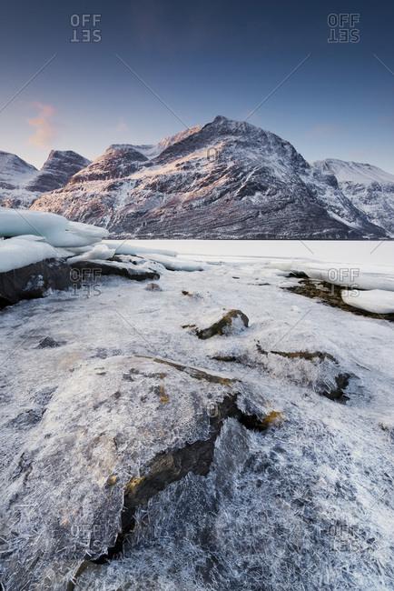 Kafjorden, a Norwegian fjord at low tide