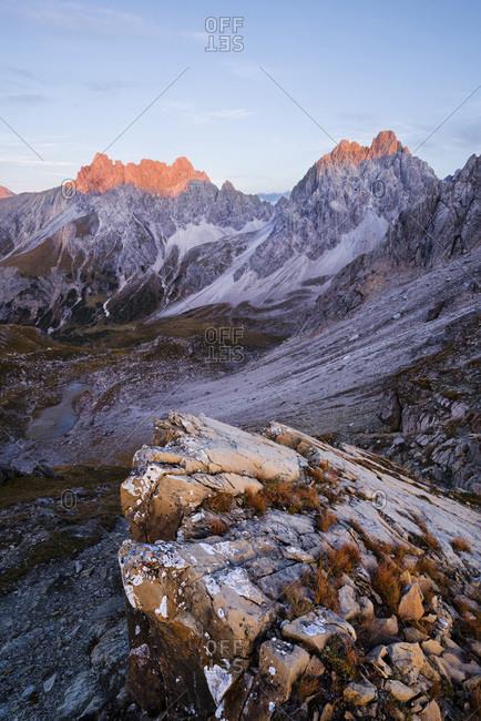 Lechtal in the Tyrolean Alps, Austria