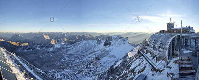 Panoramic view from the Zugspitze summit