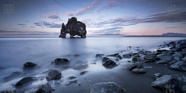 Peninsula of Vastness beach and  rock, Iceland