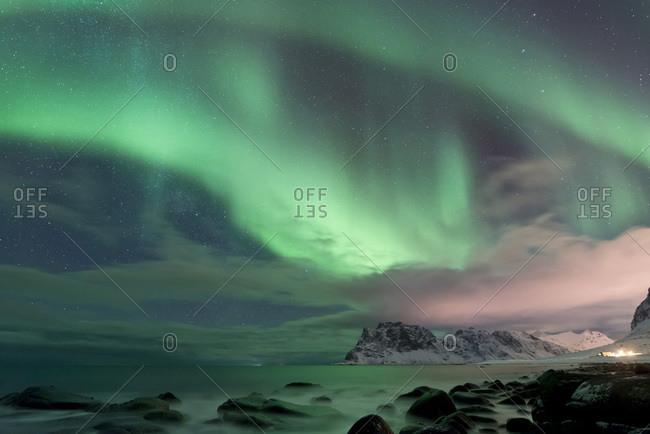 Polar light at the Lofoten, Norway