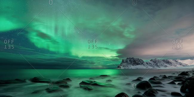 Polar lights, Lofoten, Norway