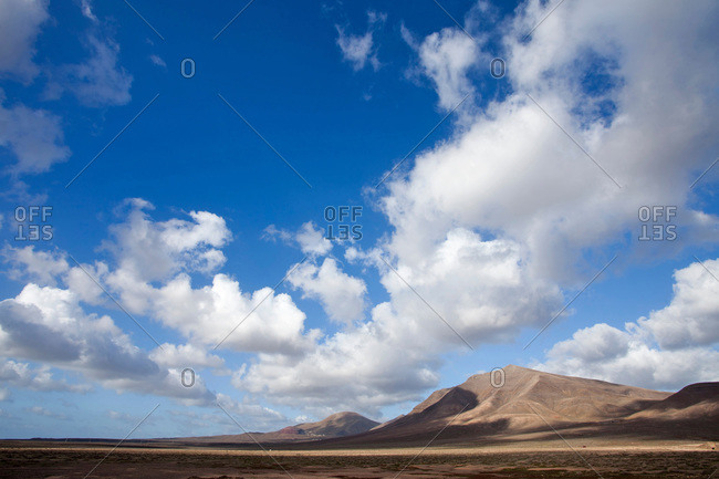 Scenery of Lanzarote, one of the Canary islands, Spain
