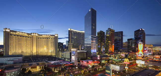 The Strip in Las Vegas by night