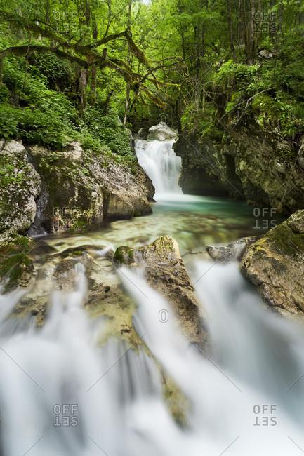 Waterfall in Triglav National Park, Slovenia