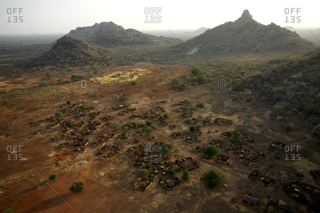 Chad, Zakouma National Park, village Bon