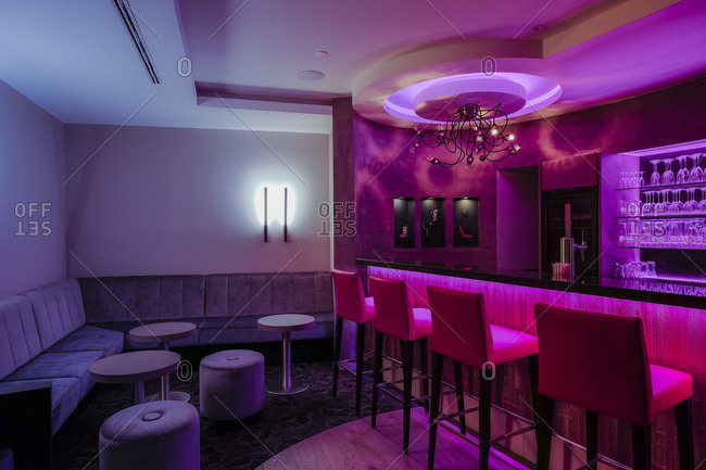 Lighted hotel bar - Offset Collection