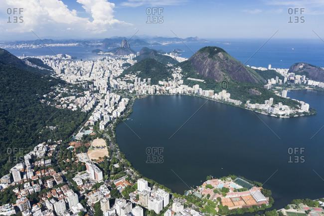 Brazil, Aerial view of Rio De Janeiro