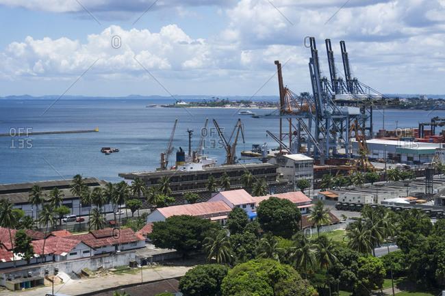 Brazil, Salvador de Bahia, View of Harbor