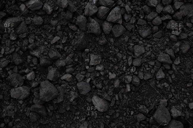 An expanse of coal
