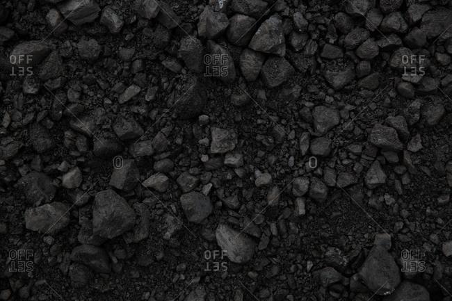An expanse of coal