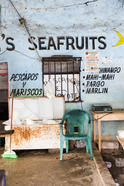 A fresh fish market in the town of Sayulita, Mexico