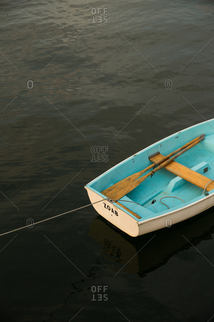 Rowboat at rest in Maine