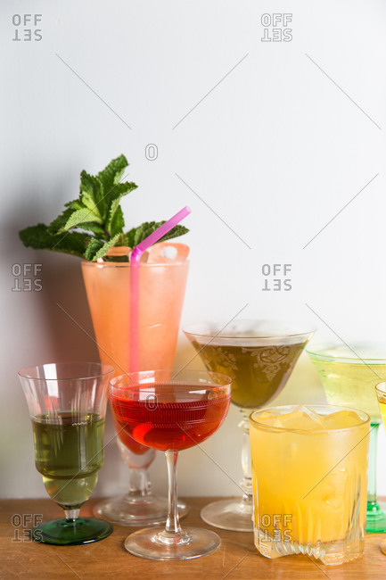 A variety of cocktails