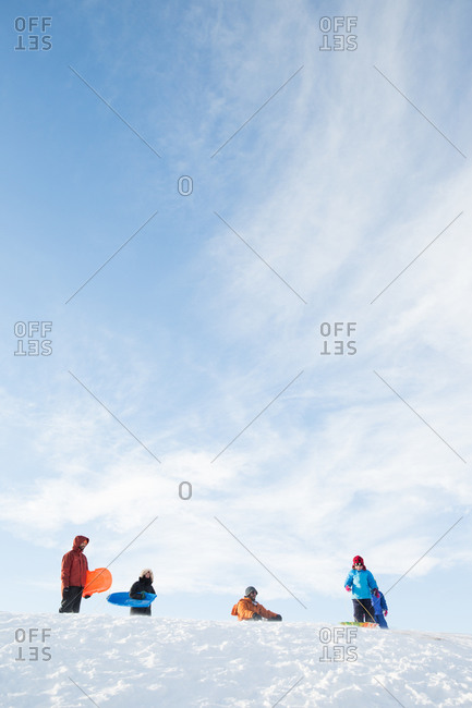 1/31/15: People at top of sledding hill