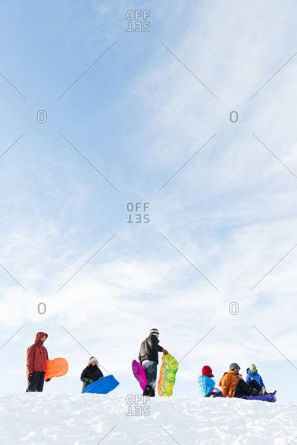 1/31/15: People on sledding hill