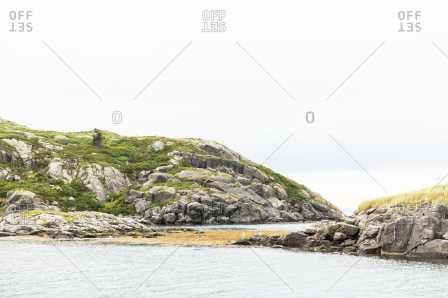 A rocky coastline in Maine