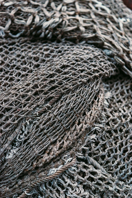 Close-up of fishing nets