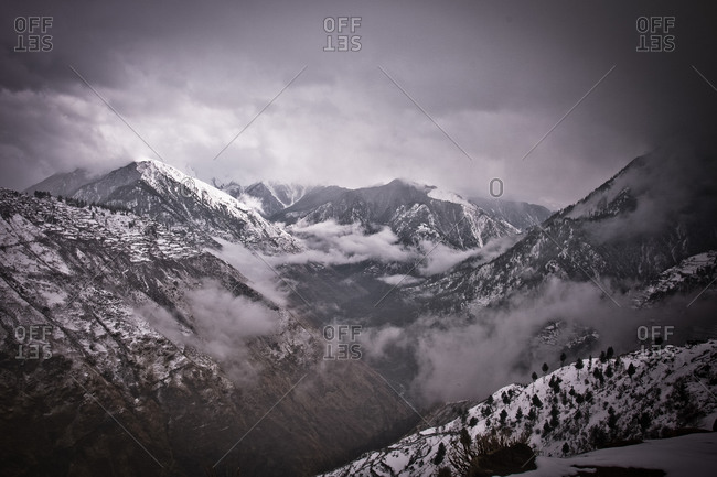 Mountains on snowy day, Humla, Nepal