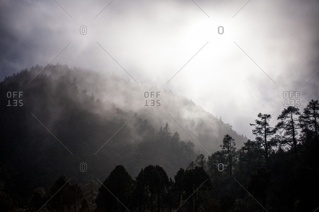 Mountain mist, Gosikunda, Nepal