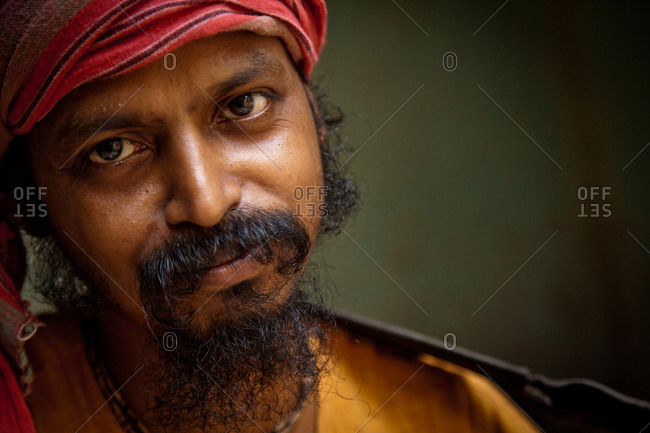 Kolkata, India - May 30, 2014: Baul Musician, West Bengal, India