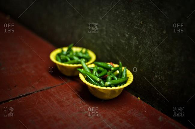 Green chili, India