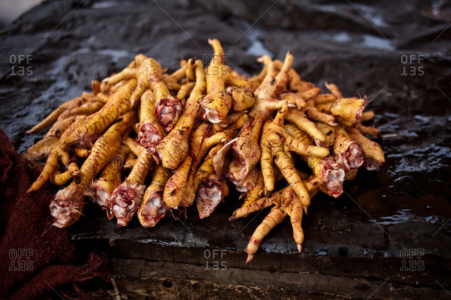 Chicken feet, Chinatown, Kolkata, India