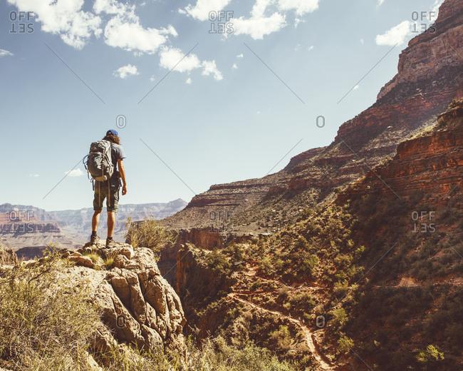 Hiker on Grand Canyon