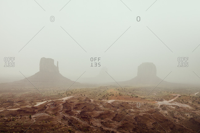 Mist over Monument Valley