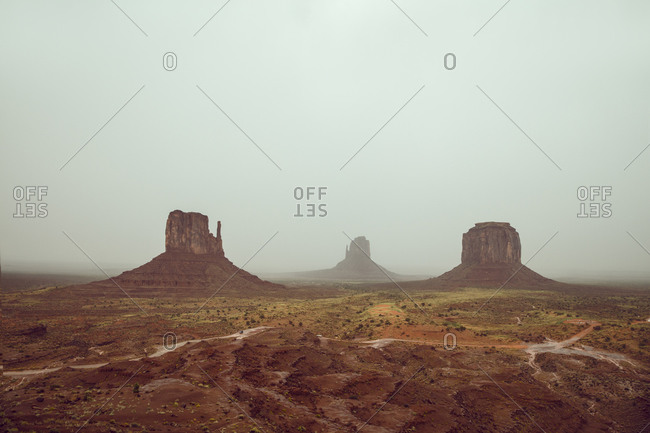Misty Monument Valley
