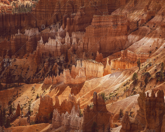 Hoodoo formations, Bryce Canyon