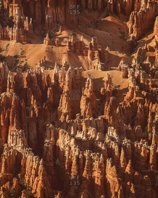 Hoodoo formation in Bryce Canyon
