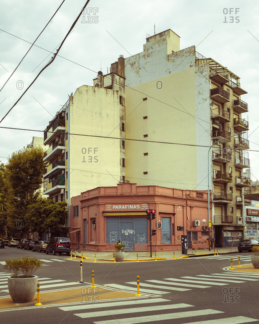 12/26/14 - Buenos Aires, Argentina: Closed shop on a street corner
