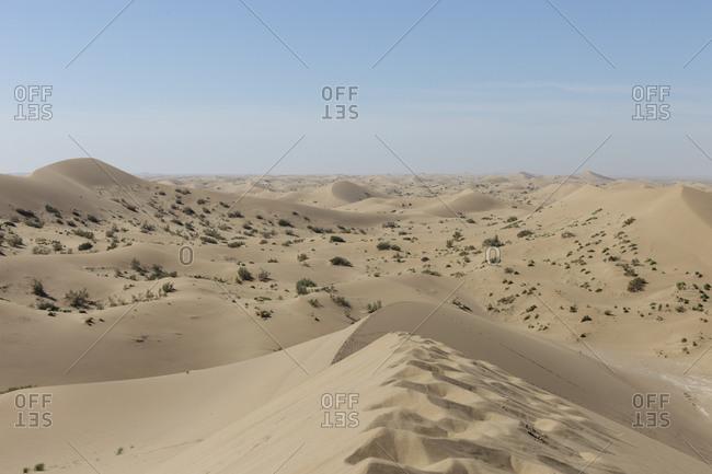 Sand dunes in Iranian desert