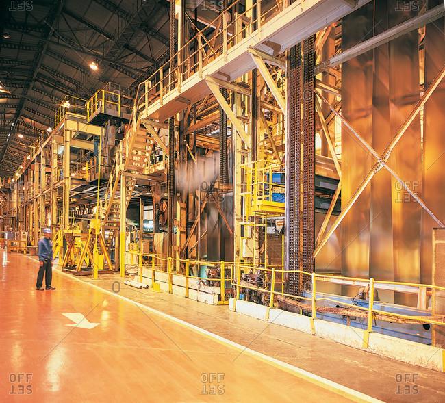 Worker in steel mill - Offset