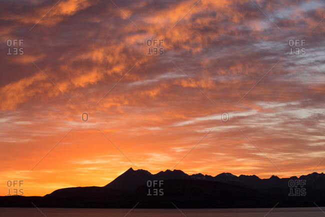 Cuillin mountains at sunset, Isle of Skye, Hebrides, Scotland