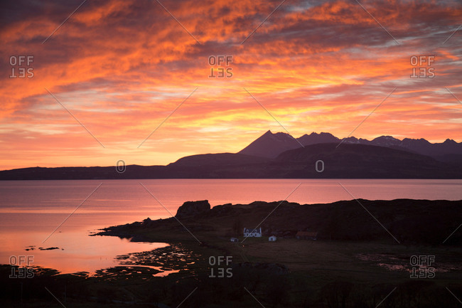 Cuillin mountains at dawn, Isle of Skye, Hebrides, Scotland