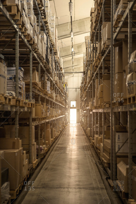 Warehouse of factory that makes products for boating and camping