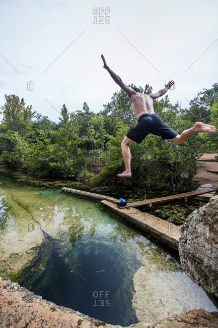 Jacob's Well near Wimberley, Texas is a unique geological feature and a great way to pass a hot summer day in Texas.