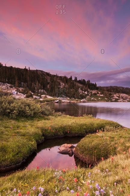 Sunset at Thousand Island Lake,  Adams Wilderness Area High Sierra, California