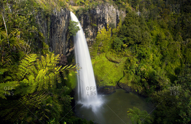 A waterfall in New Zealand