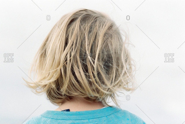 Back of blonde girl's head