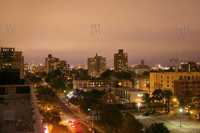 St. Louis, Missouri cityscape at night