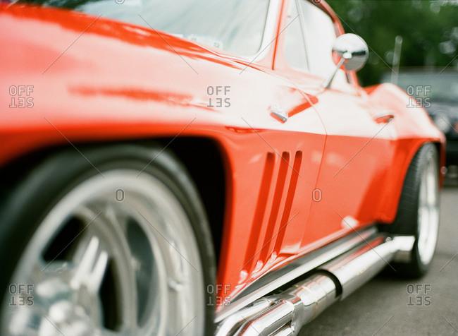A restored 1965 Chevrolet Corvette Stingray coupe
