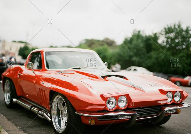 Front of a 1965 Chevrolet Corvette Stingray coupe